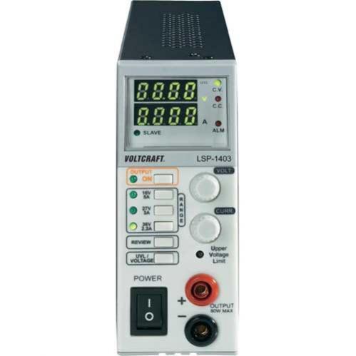 Alimentatore da laboratorio regolabile 0 - 36 V/DC 0 - 5 A 80 W Funzione Master Slave Num. uscite 1