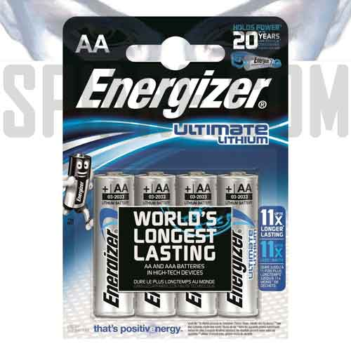 Batterie Energizer Ultimate Lithium Stilo Litio AA LR6 Blister 4 batterie
