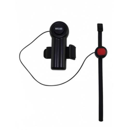 Allarme acustico da fissare su dispositivi deambulatori per casi di emergenza
