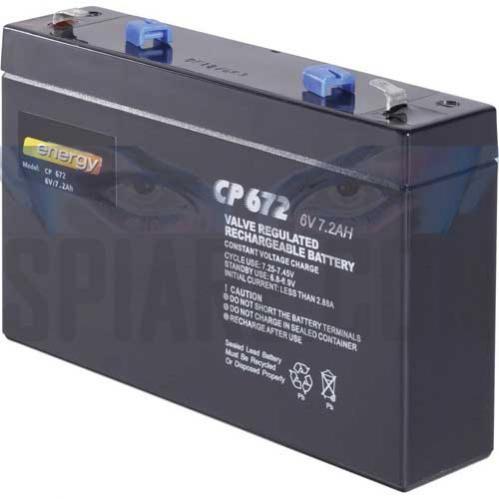 Batteria al piombo ricaricabile 6V 7Ah per videosorveglianza