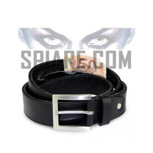 Cintura portasoldi uomo vera pelle con cerniera interna segreta