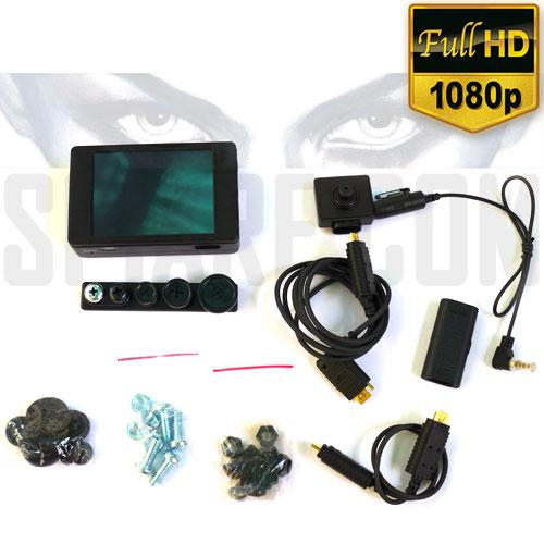 Micro Registratore Video e Audio Full HD con Microtelecamera spia a bottone