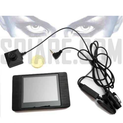 Kit Telecamera Spia con Mini DVR Microregistratore Video Tascabile con Monitor Touch Screen