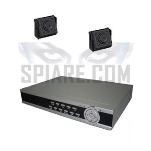 Kit  Videosorveglianza  con microtelecamere da interno