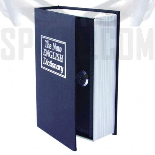 Libro cassaforte  segreta dizionario con serratura a chiave