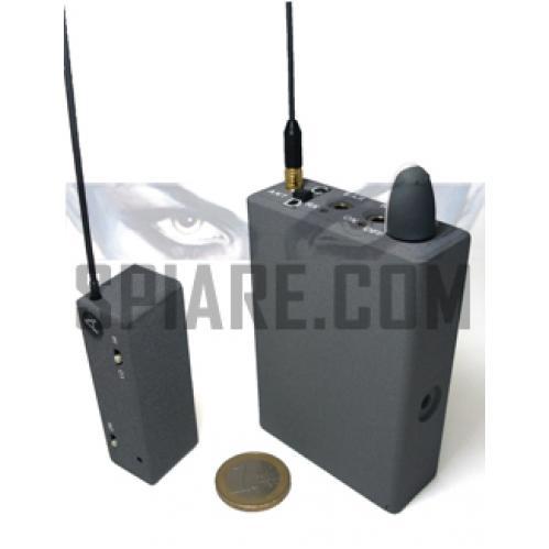 Kit Microspia audio ambientale con Ricevitore dedicato a 2 canali