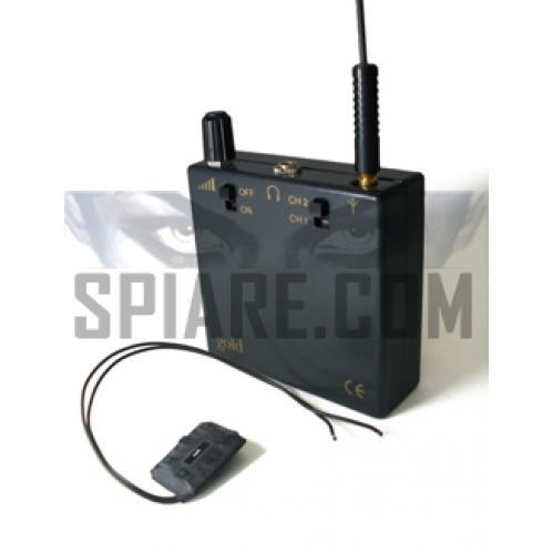 Kit Microspia telefonica con ricevitore tascabile dedicato per intercettazione telefonica