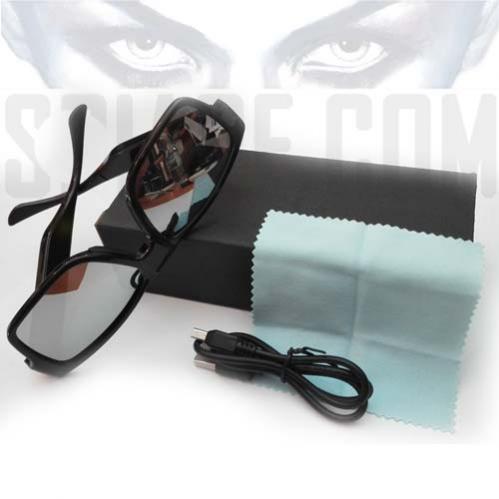 Occhiali con videocamera Spia HD professionale - lente invisibile - lunga durata