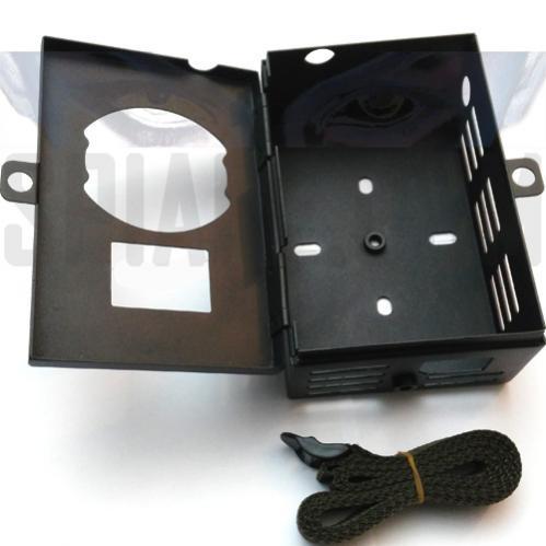 Custodia protettiva in metallo per protezione telecamera da esterno fototrappola