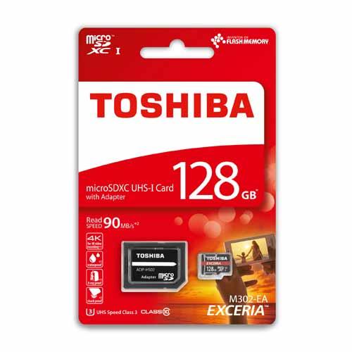 Scheda di memoria MicroSDXC M302 Classe 10 da 128 GB TOSHIBA