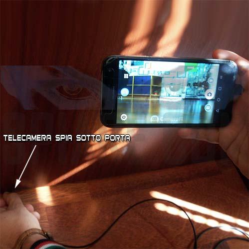 Telecamera Spia per spiare sotto Porte e attraverso Serrature