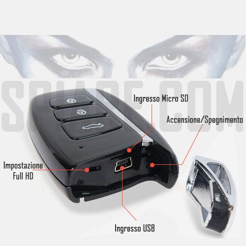 Telecomando Spy con Microcamera e DVR