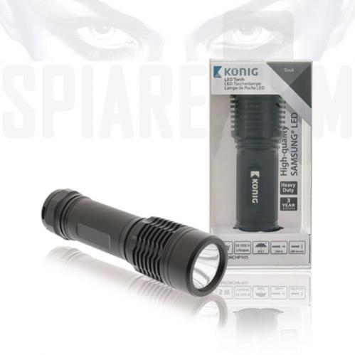 Torcia a LED tattica 280 lumens di colore nero Samsung