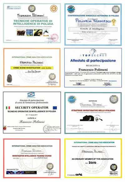 Attestati Francesco Polimeni Polinet Srl