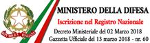 ministero difesalicenza iscrizione registro nazionale decreto ministeriale 2 marzo 2018