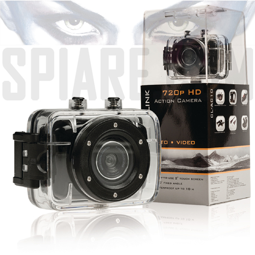 "La Action Camera HD 720p  touch screen da 2"" è ideale per le riprese più estreme"