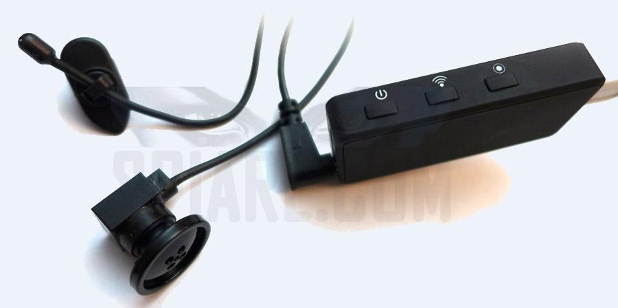 Micro telecamera spia Wifi bottone con microregistratore per inviare immagini a distanza illimitata su celllulare smartphone