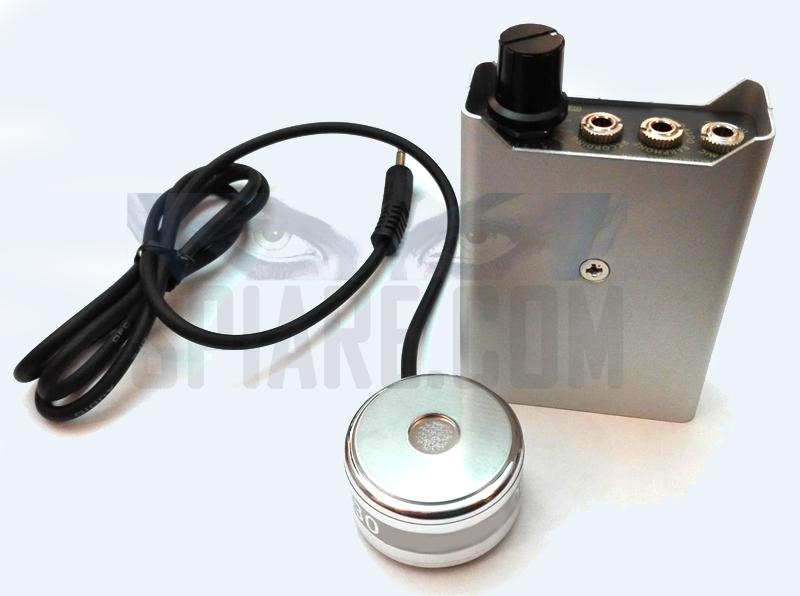 Microfono stetoscopio ad alta sensibilità per ascolto attraverso pareti di uno spessore fino a 60 centimetri