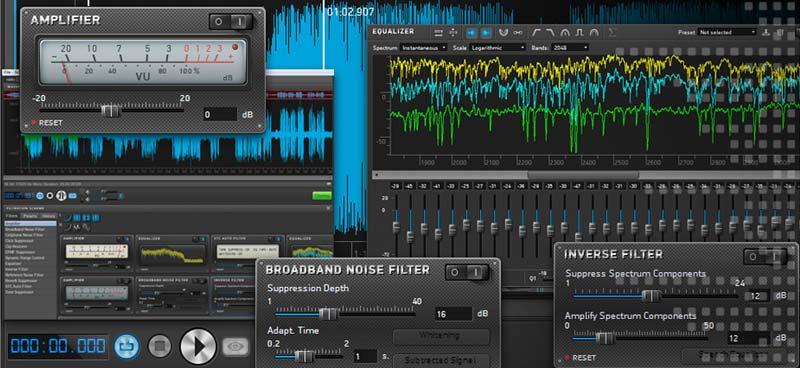 pulizia audio registrazioni file audio video servizio polinet srl
