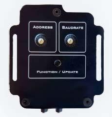 retro del controller pt con selettori del indirizzo pelco d e selettore del bauderate