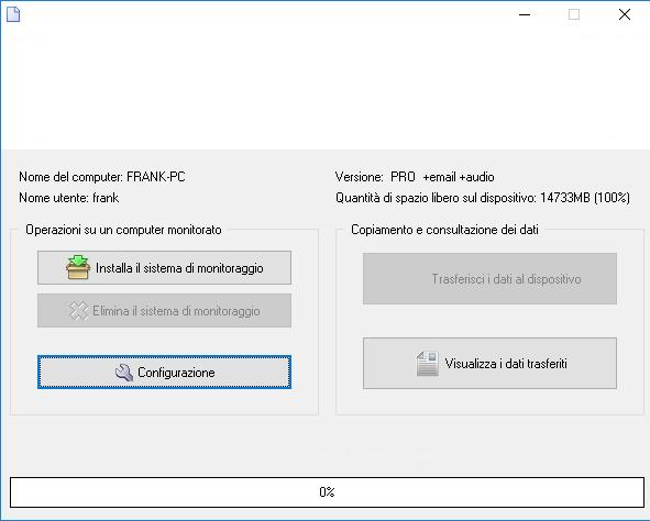 spiare pc software schermata iniziale