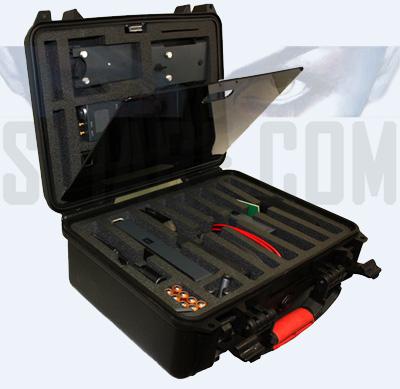 valigia con rilevatore professionale per bonifica da microspie e cimici