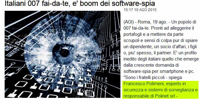 software spyphone per spiare cellulari Francesco Polimeni intervista