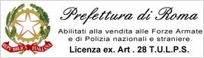 Licenza TULPS EX ART 28 - Prefettura di Roma