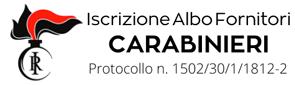 Iscrizione Albo Fornitori dell'Arma dei Carabinieri